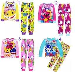 cb069a5870bdf 2019 pantalon de pyjama en coton pour garçon enfants INS bébé requin  costumes pyjamas filles garçons