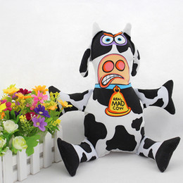 Wholesale Mad Cats - Free Shipping Fatcat Mad Cow Pets Chew Toys Good Pet Gift For Dog And Cat Good Quality Canvas Material Can Have BB Sound YC0066