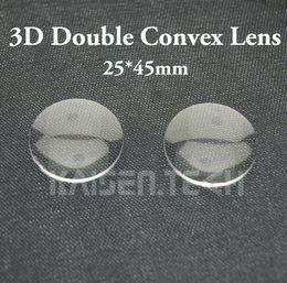 Wholesale Convex Lens Glasses - 100pcs lot New High quality Acrylic 25mm Diameter 45mm focal Double-Convex Lens for Google Cardboard lens 3D VR Glasses lens DIY wholesale