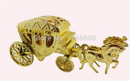Wholesale Candy Carts - 500pcs lot royal horses cart candy box royal carriage for wedding candy 0920#20