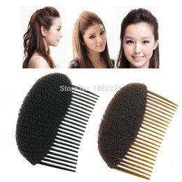 Wholesale Bump Hair - C1pc Hair Styler Volume Bouffant Beehive Shaper Roller Bumpits Bump Foam On Clear Comb Xmas Accessories WF32 order<$18no track