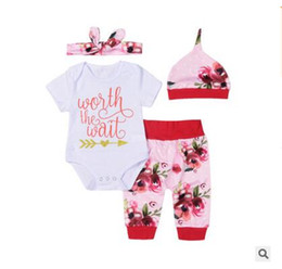 Wholesale Boys Romper 24 Months - Baby Clothes Kids Romper With Hat Hairband Set Rompers Cartoon Warm Jumpsuit Animal Baby Girl Boy Clothes Christmas Gifts Free Shipping