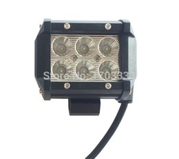 Wholesale Cree Led Motorcycle Driving Lights - 4 Inch 18W Cree LED Work Light Bar Light for Motorcycle Driving Offroad Boat Car Tractor Truck 12V Spotlight Floodlight #111551