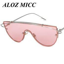 2019 steampunk occhiali da sole occhiali ALOZ MICC Steampunk occhiali da sole Occhiali da sole Donna Rosa Pantaloni a vita bassa Oversize Designer di marca Occhiali da sole Hip Hop Grandi taglie Occhiali A018 steampunk occhiali da sole occhiali economici