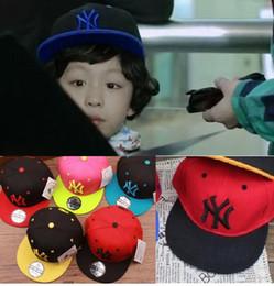 Wholesale Child Snapbacks - Newst NY kids hiphop Snapbacks hats caps Snapback Baseball hat cap adult leisure hats free size
