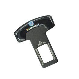 Wholesale Black Seat Belt Set - 10pcs set Black Car Covers Car - Styling Clip Brand Seat Plug Buckle Safety Belt For Volkswagen Polo Golf Passat CC Carola