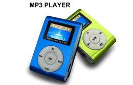 Wholesale Usb Music Player Screen - Colorful MINI Clip MP3 Player with 1.2'' Inch LCD Screen Music player Support Micro SD Card TF Slot + Earphone +USB Cable with Gift box