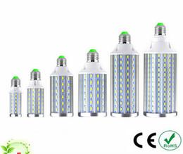 Wholesale Corn Bulb Leds - New Disign Full Watt E27 E14 10W 15W 20W Aluminum LED lamps 110V 220V 5730 SMD LEDs Corn Bulb For living Room lighting