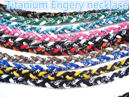 Wholesale Titanium Germanium Rope - Mix color Sport Energy Necklace Titanium & Germanium 3 Ropes Braid Tornado baseball softball athletes necklaceNE91
