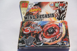 Wholesale Beyblade Metal Fusion Pegasus - 1piece Beyblade Metal Fight Fusion Ultimate DX SET 4D Wing Pegasis Pegasus 90WF Beyblade BB121A