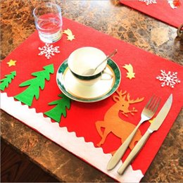 Wholesale Square Melamine - Table Mat Insulation Pad Coaster Christmas Decoration For Home Table Placemat Cushion Cover Tableware Kitchen Supplies