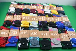 Wholesale Leaf Printed - Plant leaves socks Skateboard Leaf Printed Pattern socks Unisex Mens Womens High cotton socks free size
