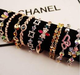 Wholesale Diamond Gold Tennis Bracelet - 2016 fashion charms bracelets for women turquoise jewelry Gold-plated zircon bracelets Fashion luxury diamond bracelet