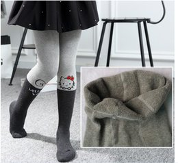 Wholesale Thickening Pantyhose - Girls Cartoon Pantyhose Socks Children Thicken Warm Autumn Winter Leggings Pants Cute Girls Tights Kids Long Socks Leggings Stockings 3 Size