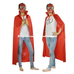 Wholesale Red Fiberglass - Creative Toy Party decoration Halloween cosplay carnival dance costume adult red spider cloak clothing cos Spiderman