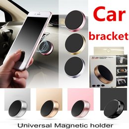 Wholesale cell phone car stand - Universal Mini Magnetic Mobile Phone Holder Car Dashboard Bracket Cell Phone Holder Stand For iPhone X 8 SamsungS8 S6 LG Magnet Mount Holder