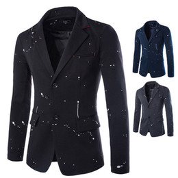 Wholesale Purchase Types - Foreign purchasing new autumn and winter 2015 men's casual Korean type printing ink version 2 button suit 9200
