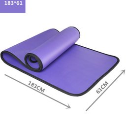 Wholesale Floor Supplies - wholesale 4 Colors 10MM NBR Yoga Mat Exercise Pad Thick Non-slip Folding Gym Fitness Mat Pilates Supplies Non-skid Floor Play Mat