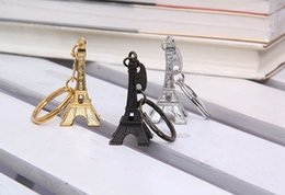 Wholesale Sliver Plate Wholesale - Zakka Vintage Eiffel Tower Keychain   Tower pendant key ring gifts Fashion Wholesales Free shipping Gold Sliver Bronze