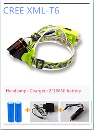 Wholesale Coal Lights - Drop shipping High Power 800 Lumens 5 Modes Outdoor Camping Fishling Hiking Coal Miner Zoomable Focusable LED Head Lamp Torch Flashlight