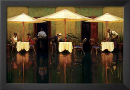 Olio spagnolo online-dipinti di arte contemporanea di Brent Lynch Spanish Cafe dipinto a mano olio su tela di alta qualità