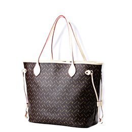 Wholesale Brown Satin Clutch - Totes with Removable Zippered clutch Shoulder Bags 40995 Designer Handbag for Women Genuine Leather Totes Never fulls GM MM