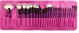 Wholesale Plastic Ends - High-end Professional 24 Pcs Makeup Brush Set Synthetic Hair Easy Portable Makeup Tool Kits