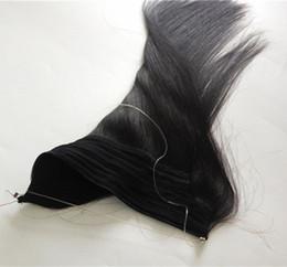 Человеческий волос флип-ореол онлайн-Elibess Brand Flip Human Hair Extensions 100g / lot Бразильские прямые волосы Halo # 1 # 1B # 2 # 4 # 8, бесплатный DHL