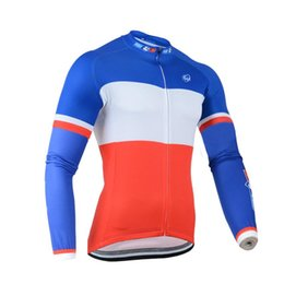 Wholesale Mens Cycling Jacket Xl - 2017 FDJ cycling jersey mens cycling clothing mtb bike maillot Breathable ropa clismo hombre Quick-dry Bicycle Long sleeves jacket C0140