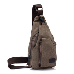 Wholesale Military Canvas Messenger Bag - Wholesale-Canvas Tactical Chest Sling Pack Outdoor Sport Single Shoulder Man Casual Travel Hiking Military Messenger Bag Men Chest Pack