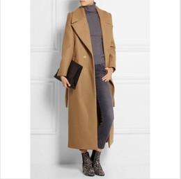 Wholesale Women S Wool Maxi Coat - casaco feminino 2017 UK Women Plus size Autumn Winter Cassic Simple Wool Maxi Long Coat Female Robe Outerwear manteau femme