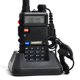Wholesale Uhf Portable Transceiver - x8 Handheld Portable Walkie Talkie BaoFeng interphone UV-5R 128CH Dual Band UHF+VHF DTMF Two-Way Radio Transceiver A0850A