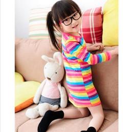 Wholesale Rainbow Dress For Baby Girl - 2016 girl dresses Rainbow girl print dress brand children's clothing spring new princess dress for girl baby clothting available