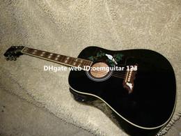 Wholesale Acoustic Black Guitar Eq - Black DOVE Electric Acoustic Guitar with EQ New Arrival wholesale guitars OEM Best selling