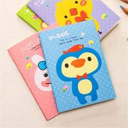 Wholesale Cheap Wholesale School Supplies - Wholesale- Cheap Sale Cartoon Mini Animal Notebooks Journal Diary Planner Notepad Daily Memos Books Korean Office School Supplies