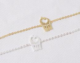 Wholesale Twin Lovely - 30PCS- B023 Gold Silver Cute Heart Loving Giraffes Bracelets Simple lovely Twin Giraffe Deer Bracelet Animal jewelry for couples