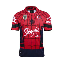 Wholesale Flash Spiderman - Heroic version Sydney Roosters 2017 Marvel Spiderman Jersey rugby Jerseys League rugby shirt nrl jersey
