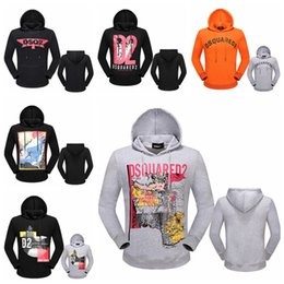 Wholesale Designer Sweaters Hoodies - 2018 Men's Hoodies Sweatshirt Famous Brand Designer dsq2 Pullover Sportswear Jacket Jogging Running Fashion Casual Sweater d2 Sweatshirt