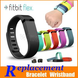 Wholesale fitbit flex wristband small - Replacement TPU Fitbit Flex Wireless Wristband Activity Bracelet Wrist Strap With Metal Clasp Colorful small large size Free DHL 200pcs
