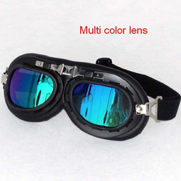 Wholesale Windproof Safety Glasses - Wholesale-2015 new free shipping men's glasses retro motor cycle glasses Windproof bike glasses sports men women's Safety goggles