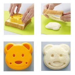 Wholesale Craft Sandwich Plastic Mold Cutter - Practical Little Teddy Bear Shape Sandwich Bread Cake Mold Maker DIY Mold Cutter Craft #30455