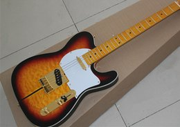 Wholesale Dog Customs - free shipping New Arrival Custom Shop Telecaster Guitar Merle Haggard Signature Tuff Dog Tele Sunburst Electric Guitar Golden Hardware