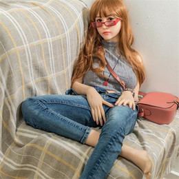 Wholesale Oral Sex Beautiful - 158cm New oral sex doll vagina with dolls and handshake, male toys non-inflatable dolls high quality beautiful