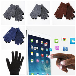 Wholesale Magic Wool - Winter Warm Wool Gloves Men and Women Lovers Knit Glove Anti-skid Screen Touch Phone magic Knitted gloves KKA3271
