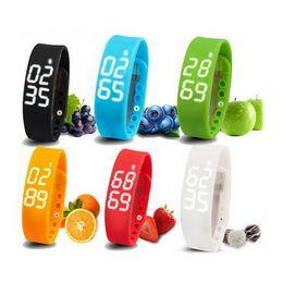 Wholesale Fitness Equipment Women - W2 Smart Bracelet Watch Bangle Wristband LED Digital Sports Pedometer Sleep Tracking Wearable USB Intelligent Equipment For Kids Women Men