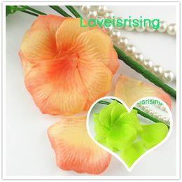 Alaranjado pétalas flor casamento on-line-5 pacotes (720 pcs) orange tecido não-tecido artificial rose flower pétala para festa de casamento favor decoração-frete grátis