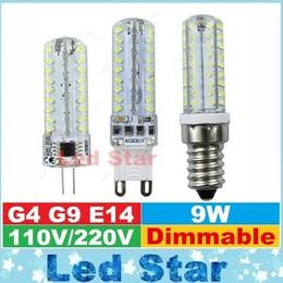 Wholesale G4 Led Dhl - G4 G9 E14 Dimmable Led Bulbs Lights 72LEDs smd 3014 High Power 9W Led Spot Lights Lamp AC 110-240V DHL Free Shipping