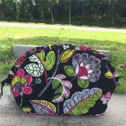 Wholesale Large Cosmetic Pouch - VB Cotton Large Zip Cosmetic Bag Cosmetic Travel Bag Pencil Case Storage Pouch Purse