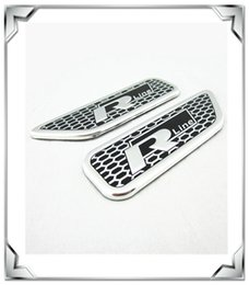 Wholesale Vw R Line Logo - High quality Aluminum Racing Black R Line RLine Badges Logo Sticker For VW Passat CC Golf Free Shipping
