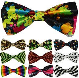 Wholesale High Quality Tuxedos - 2017 New High Quality Novelty Mens Unique Tuxedo Bowtie Bow Tie Necktie 25 color choosable